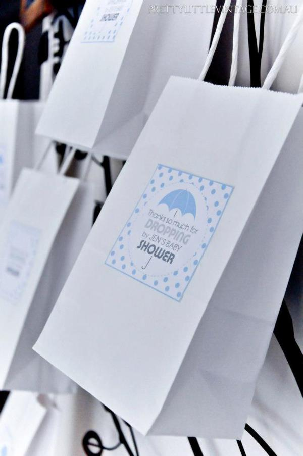 Showered from above Shower Baby Shower theme by Justine via babyshowerideas4u.com - thanks for dropping by bags