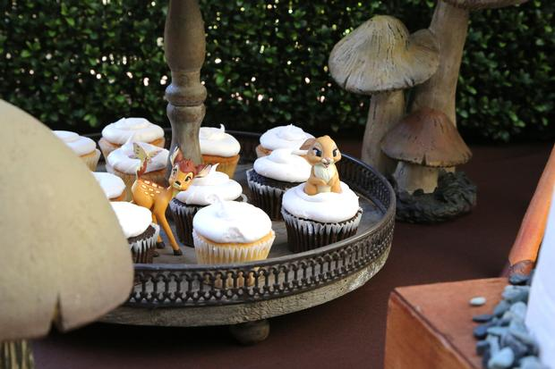Spring Bambi Baby Shower cupcakes