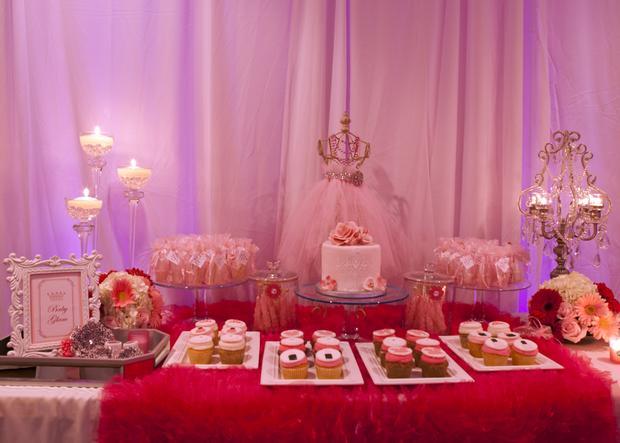 baby glam shower ideas via babyshowerideas4u lovely dessert table so stunning