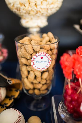 baseball themed baby shower ideas, peanuts