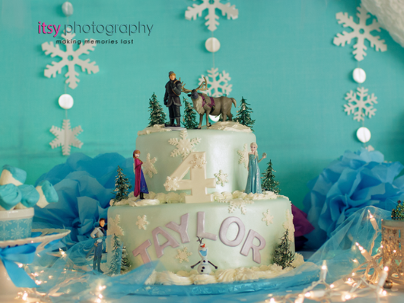 disney's frozen party ideas cake