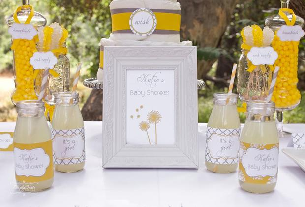 dreams and wishes dandelion baby shower party ideas via babyshoweridesa4u 2