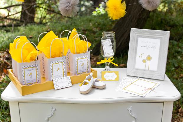 dreams and wishes dandelion baby shower party ideas via babyshoweridesa4u favors