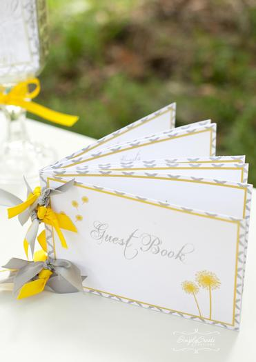 dreams and wishes dandelion baby shower party ideas via babyshoweridesa4u guest book