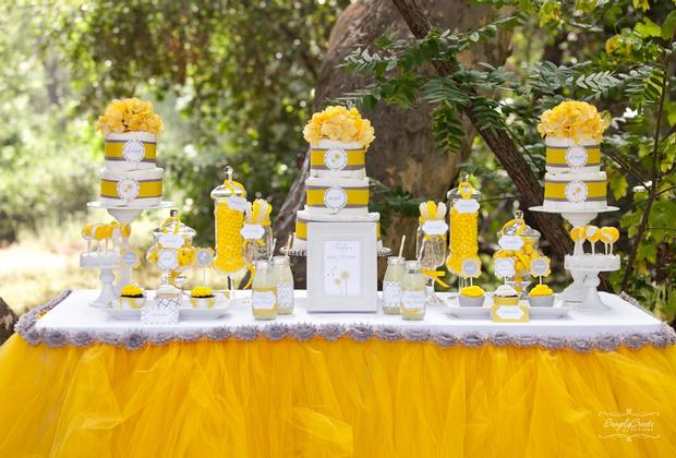 dreams and wishes dandelion baby shower party ideas via babyshoweridesa4u