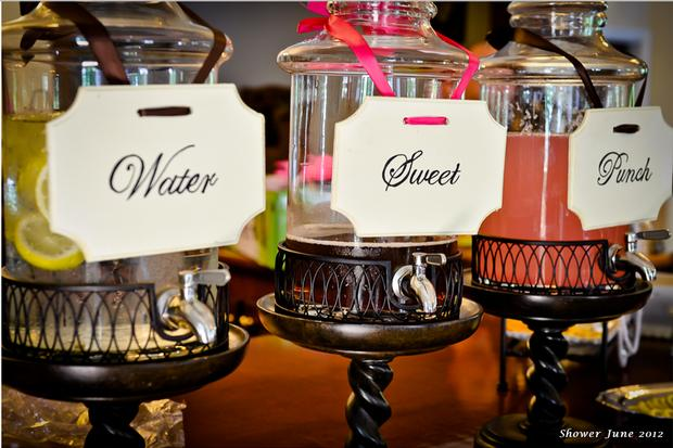 hollywood baby shower ideas lights camera! drink station