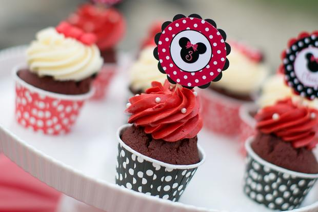 minnie mouse party cupcakes
