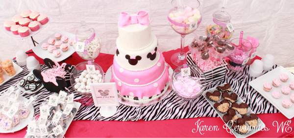 minnie mouse party decoration candy table ideas
