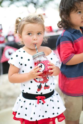 minnie mouse picnic party red black polka dots 0