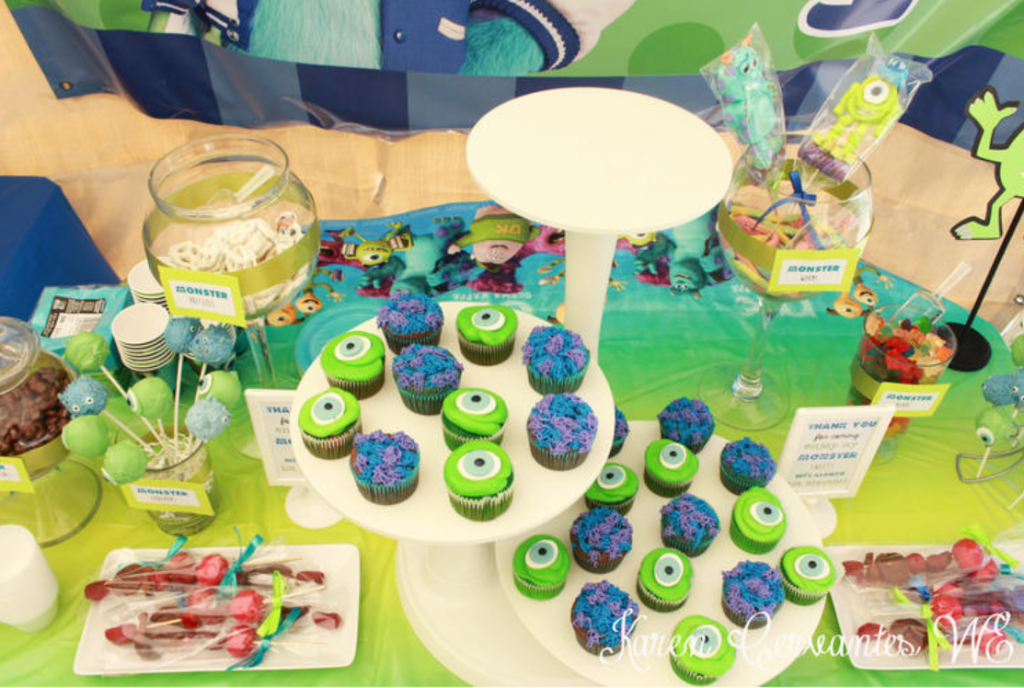 monster inc party decoration candy table ideas 2