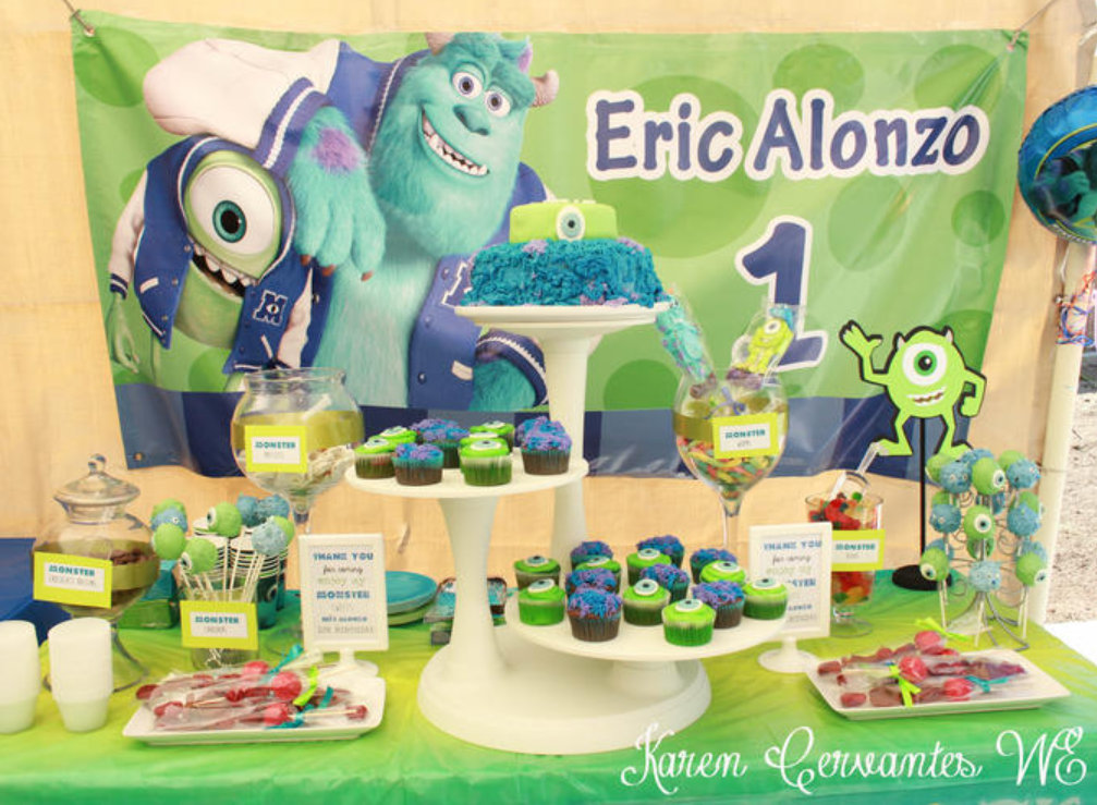 monster inc party decoration candy table ideas