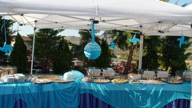 sea blue beach baby shower party ideas via babyshowerideas4u.com