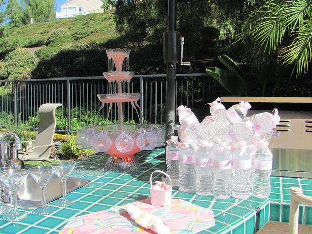 oh baby shower beautiful outdoor drinks