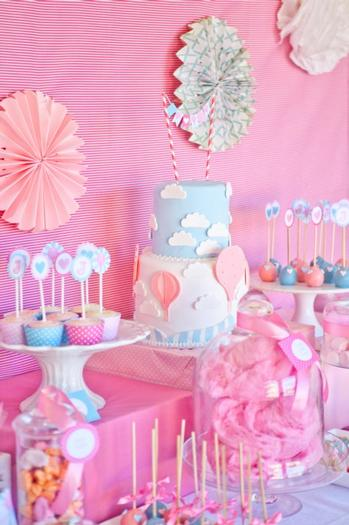 pink vintage hot air balloon baby shower via babyshowerideas4u 1