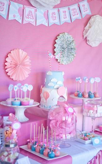 pink vintage hot air balloon baby shower via babyshowerideas4u
