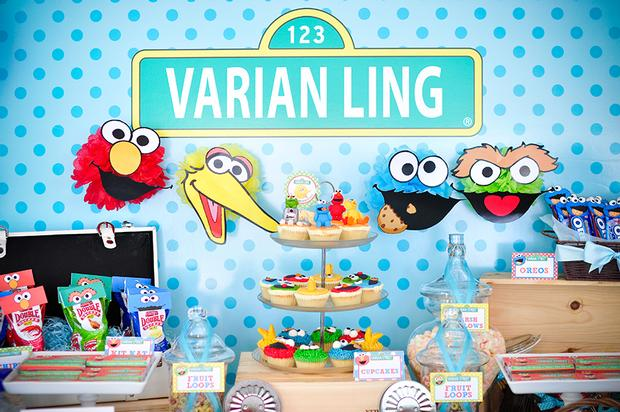 sesame-street-themed-dessert-table-baby-shower-party 11