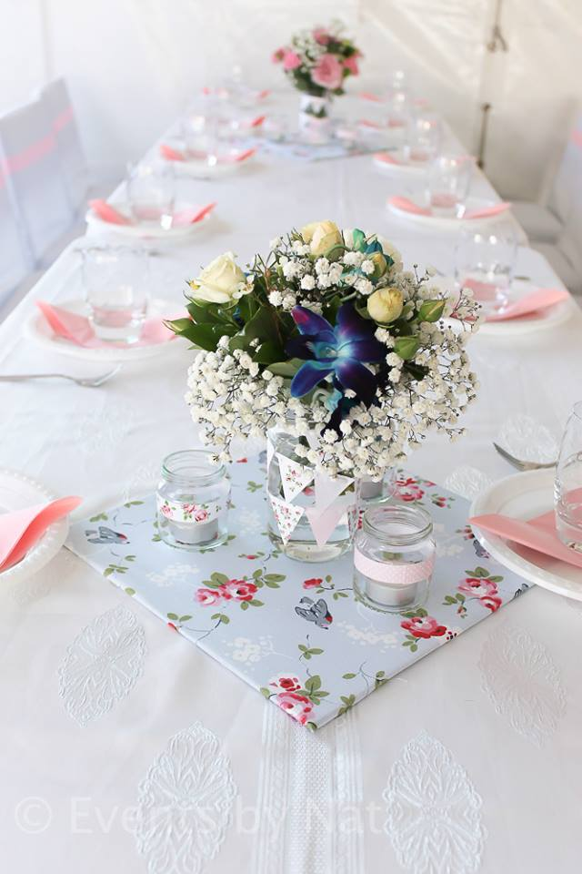 shabby chic party ideas by nat via baby shower ideas and shops babyshowerideas4u.com - table setting