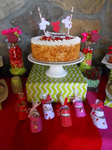 strawberry themed baby shower party ideas by maria via babyshowerideas4u cake