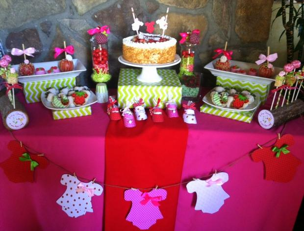 strawberry themed baby shower party ideas by maria via babyshowerideas4u cakepops rice krispies on a timber log, strawberry themed dessert table
