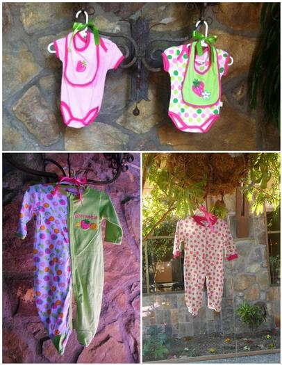 strawberry themed baby shower party ideas by maria via babyshowerideas4u hanging cute baby clothes throughout the room
