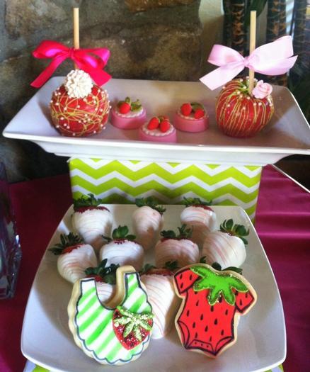 strawberry themed baby shower party ideas by maria via babyshowerideas4u yummy treats
