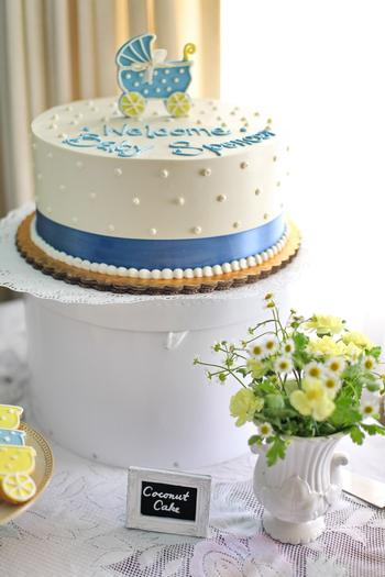 summertime outdoor baby shower ideas coconut cake