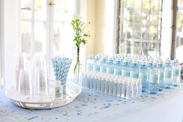 summertime outdoor baby shower ideas via babyshowerideas4u blue