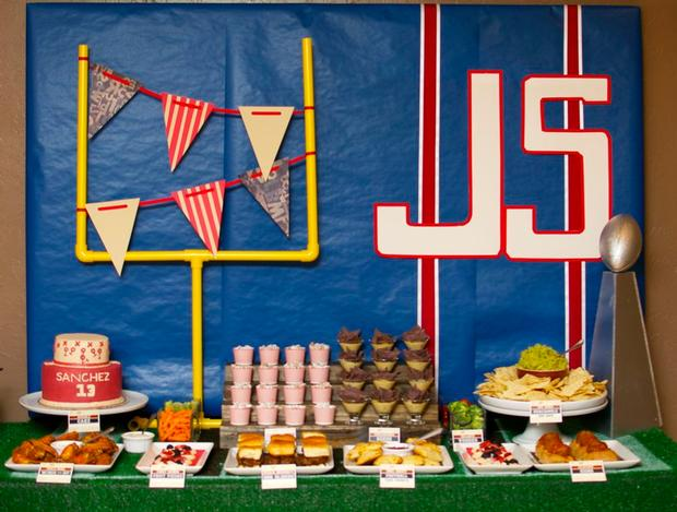 superbowl inspired football baby shower party via babyshowerideas4u