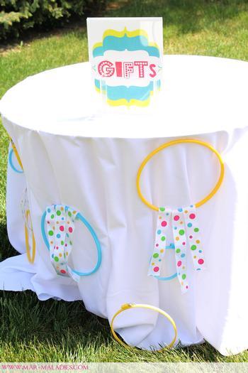 turquoise and yellow baby shower via babyshowerideas4u.com 9