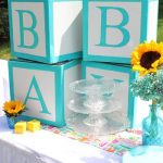 Yellow and Turquoise Baby Shower