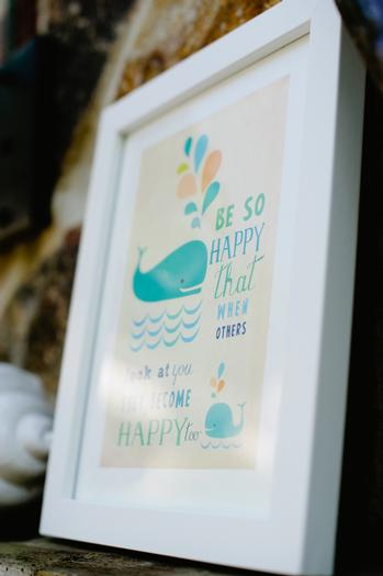 under the sea baby shower ideas, blue colors, whale soap favors, frappucino bottles, beautifully designed invitations, bottles with cute toppers, frame