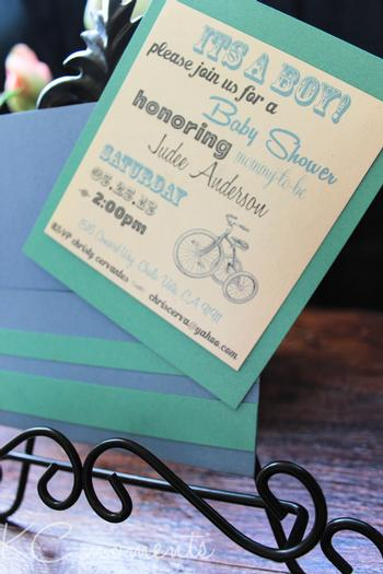 vintage tricycle invitation 2