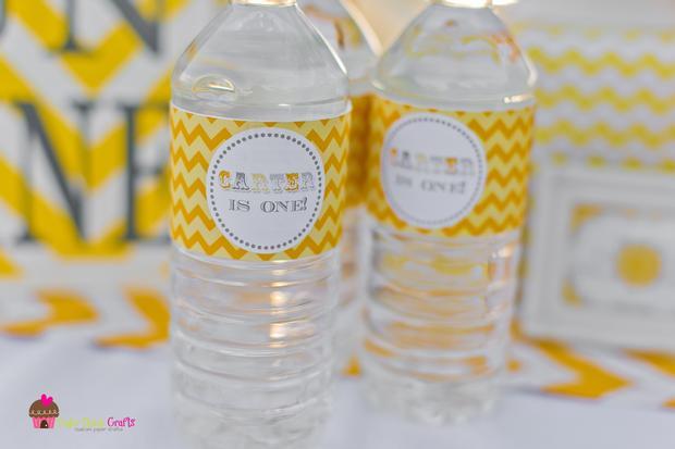 you are my sunshine grey yellow chevron party via babyshowerideas4u.com baby shower ideas 6