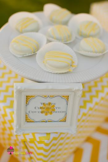 you are my sunshine grey yellow chevron party via babyshowerideas4u.com baby shower ideas and shops whit chocolate covered drops