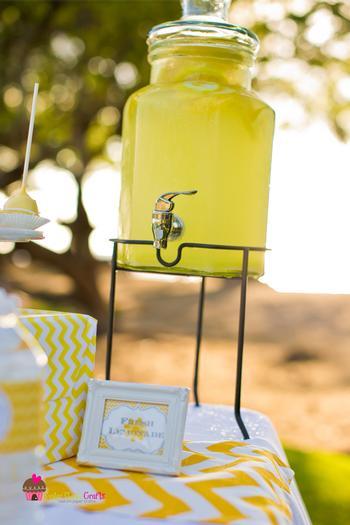 you are my sunshine grey yellow chevron party via babyshowerideas4u.com baby shower ideas drinks