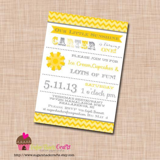 you are my sunshine grey yellow chevron party via babyshowerideas4u.com baby shower ideas invites