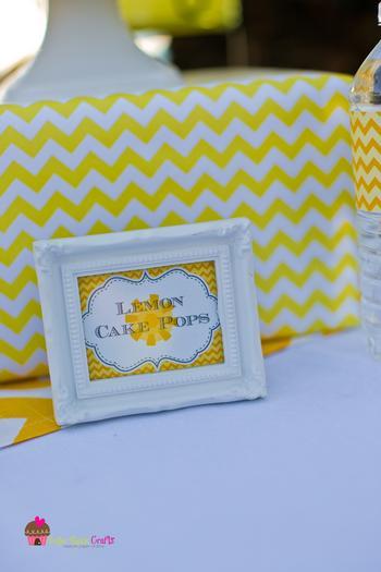 you are my sunshine grey yellow chevron party via babyshowerideas4u.com baby shower ideas lemon cake drops