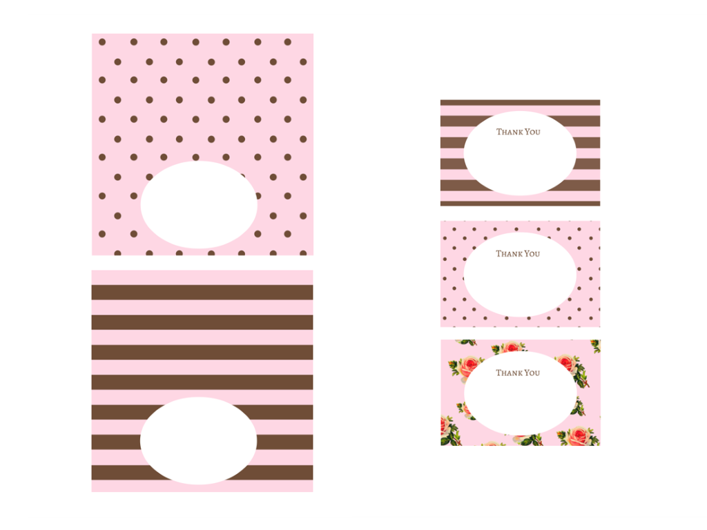 FREE Pink, Black, Chocolate Baby Shower Printables