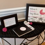 Black and White Toile Baby Shower