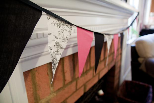 Black and White Toile Baby Shower, banner