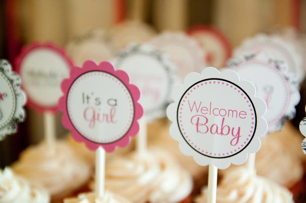 Black and White Toile Baby Shower ideas