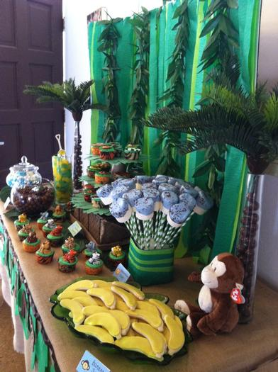 Jungle Safari Baby Shower table