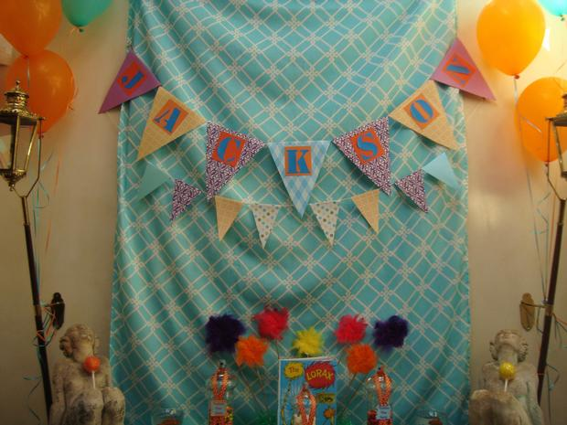 Lorax Themed Birthday Party banner