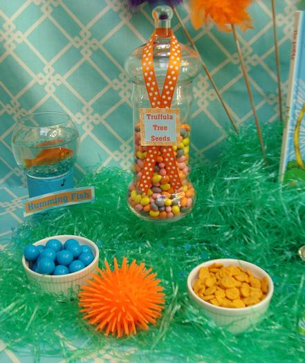Lorax Themed Birthday Party, tree seeds lollies