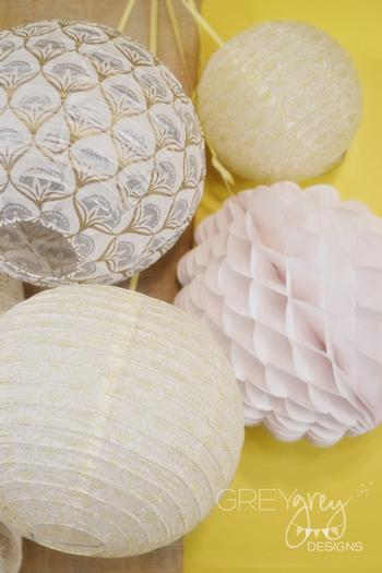 Lullaby and Goodnight Baby Shower ideas lime cupcakes, burlap, paper laces banner lantern honeycomb