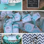 Modern Chevron Elephant Baby Shower