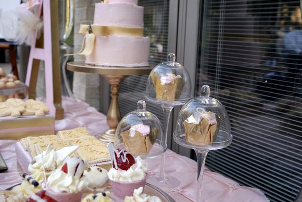 Pink and Gold Christening Reception, beautiful