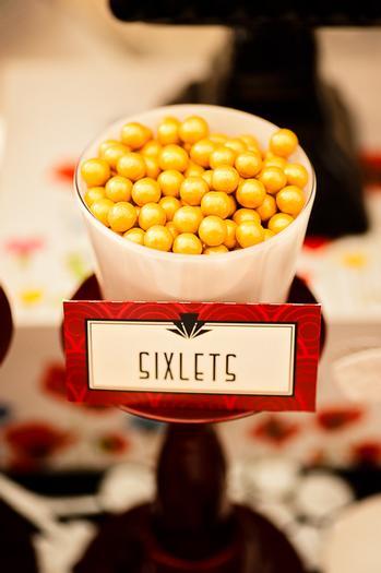 Poppy Themed Baby Shower table, type writer, caramel sugar sticks, sixlets