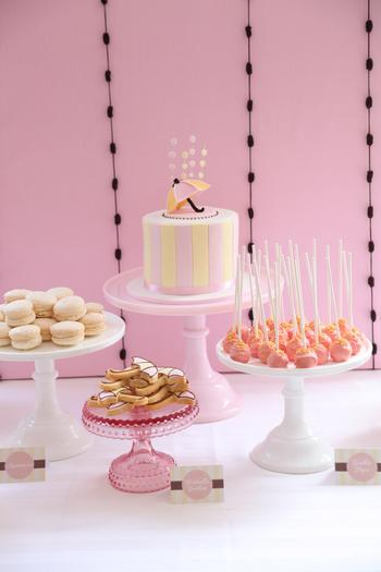 Pretty Pink and Chocolate Baby Shower, treats desserts