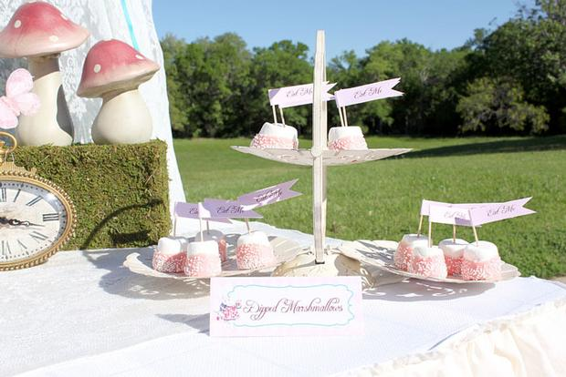 Shabby Chic Alice in Wonderland treats